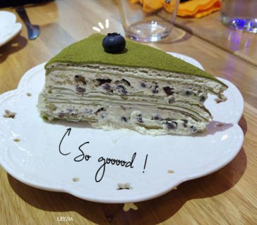 Millefeuille matcha